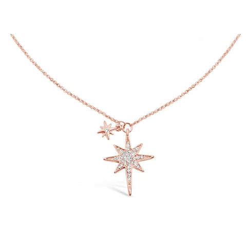 Star Rose Gold Crystal Pendant - Sparkily Ever After