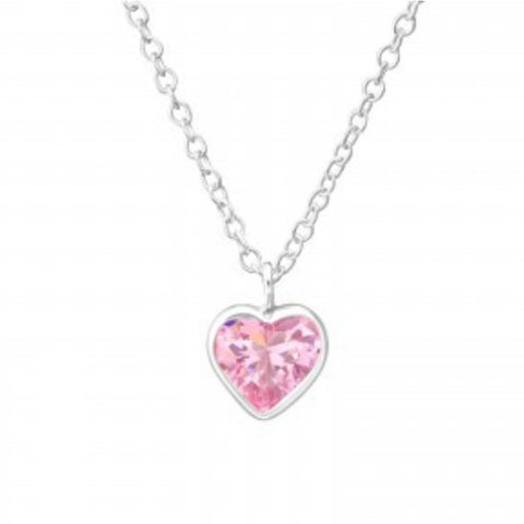 Pink Heart Necklace - Sparkily Ever After