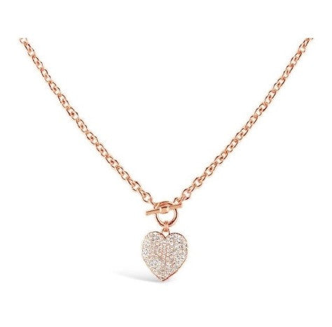Heart T-Bar Necklace - Sparkily Ever After