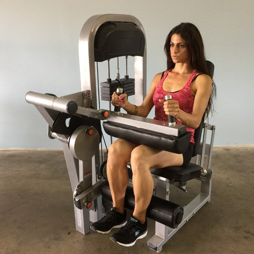 MuscleD Selectorized Seated Leg Curl