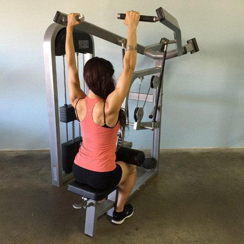 MuscleD Selectorized Lateral Pulldown