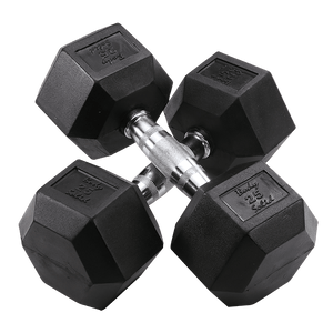5-50 Pound Rubber Hex Dumbbell Set