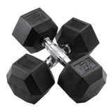 5-50 Pound Rubber Hex Dumbbell Set - Fitness Equipment Broker | Voted America's #1 Trusted Source