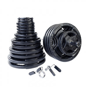 Rubber Grip Olympic Set 500 lbs