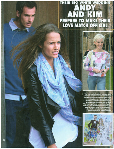 Hello! Magazine featuring Kim Sears wearing the Oxshott Leather Jacket - April 2015