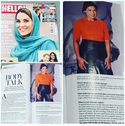 Hello Magazine UK, featuring UK TV Presenter and Businesswoman Saira Khan in the Richmond Leather Cropped Trouser | Styling -  Rachel Gold - October 2019