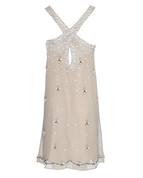 BLOOMSBURY HAND BEADED CROSS BACK DRESS