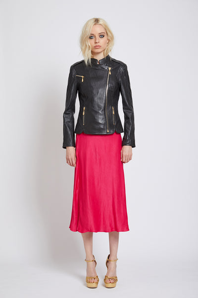 CLAPHAM LEATHER BIKER JACKET