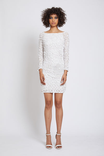 PORTOBELLO HAND BEADED SEQUIN MINI DRESS