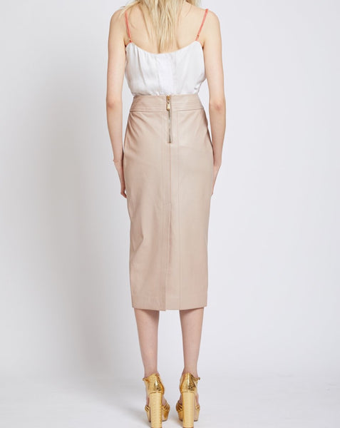PARHAM LEATHER PENCIL SKIRT
