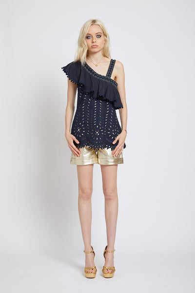 PIMLICO HAND CUTWORK ASYMMETRIC TOP