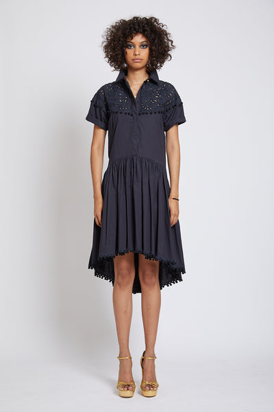 VICTORIA HAND CUTWORK SHIRTDRESS