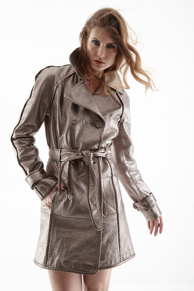 RICHMOND LEATHER TRENCH COAT