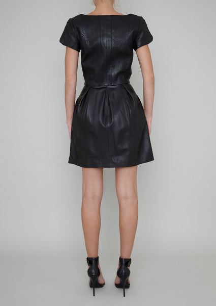 RICHMOND LEATHER ZIP DRESS