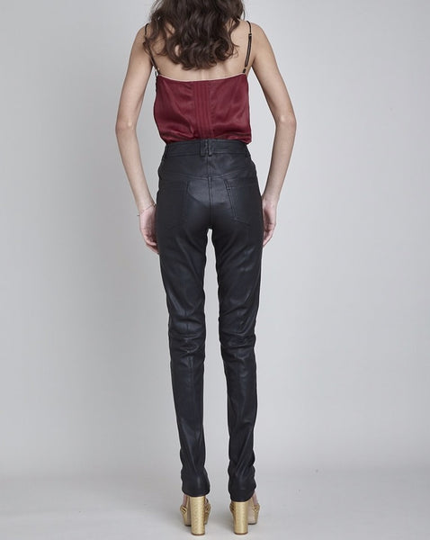 PARSONS STRETCH LEATHER SKINNY JEAN