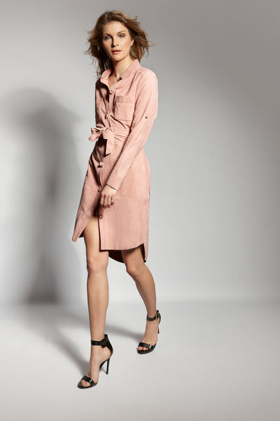 ISLINGTON SUEDE SHIRTDRESS