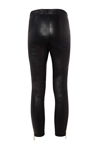 PUTNEY STRETCH LEATHER CROP TROUSER - Richards Radcliffe - 4