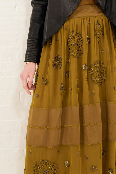 AUTUMN WINTER 2017 PREVIEW - MAIDA HAND BEADED SKIRT
