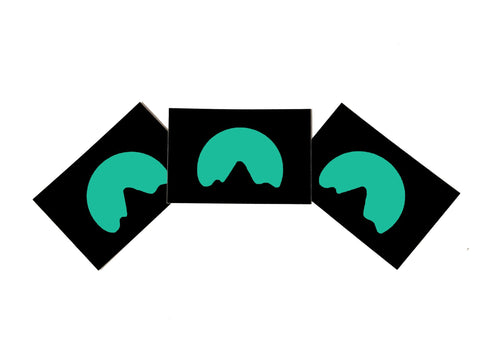 (3) Teal Logo Stickers
