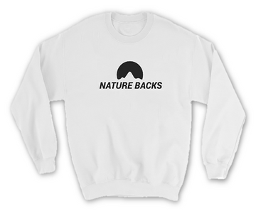 White Crew Neck - Nature Backs