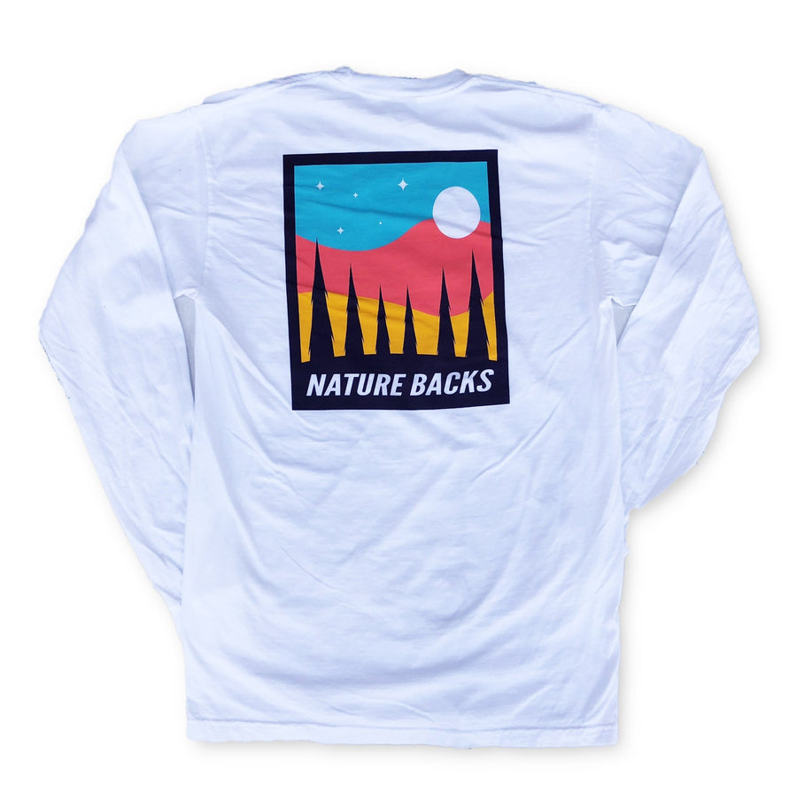 Moon Long Sleeve (White) 🌕 - Nature Backs