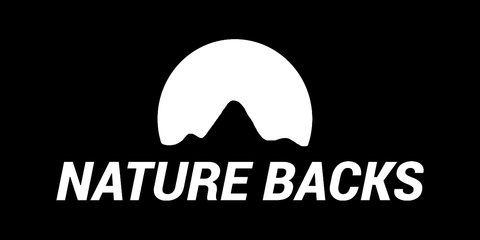 (2) Black Nature Backs Logo Stickers - Nature Backs