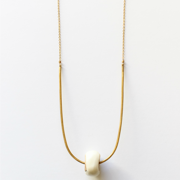 Sahara Necklace White