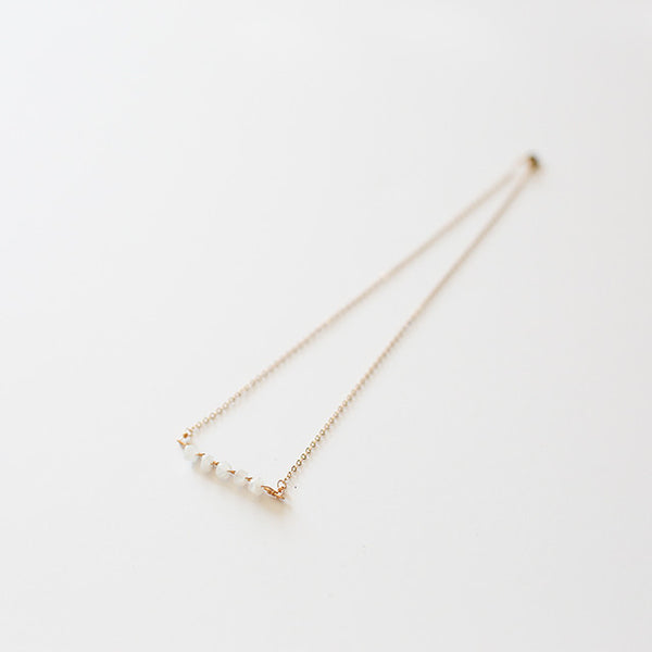 Moon Shine White Necklace