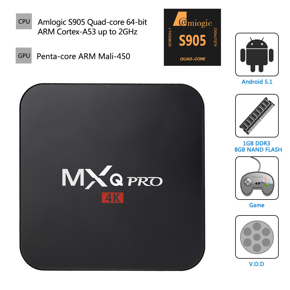 MXQ Pro Android 7.1.2 Nougat Amlogic S905W 4K Media Player ...
