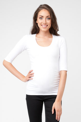 Tube Tee Scoop Neck Elbow Sleeve