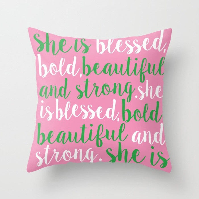 Inspirational Pillow/Greek Edition (More Colors Available)