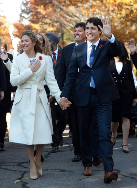 Sophie Grégoire Trudeau wears the Long Coat with Fur