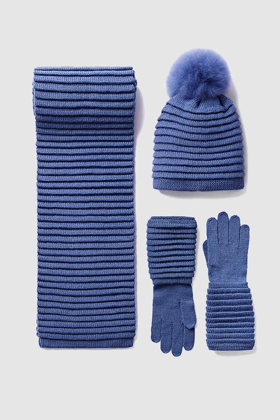 Adult Ribbed Accessories, Periwinkle