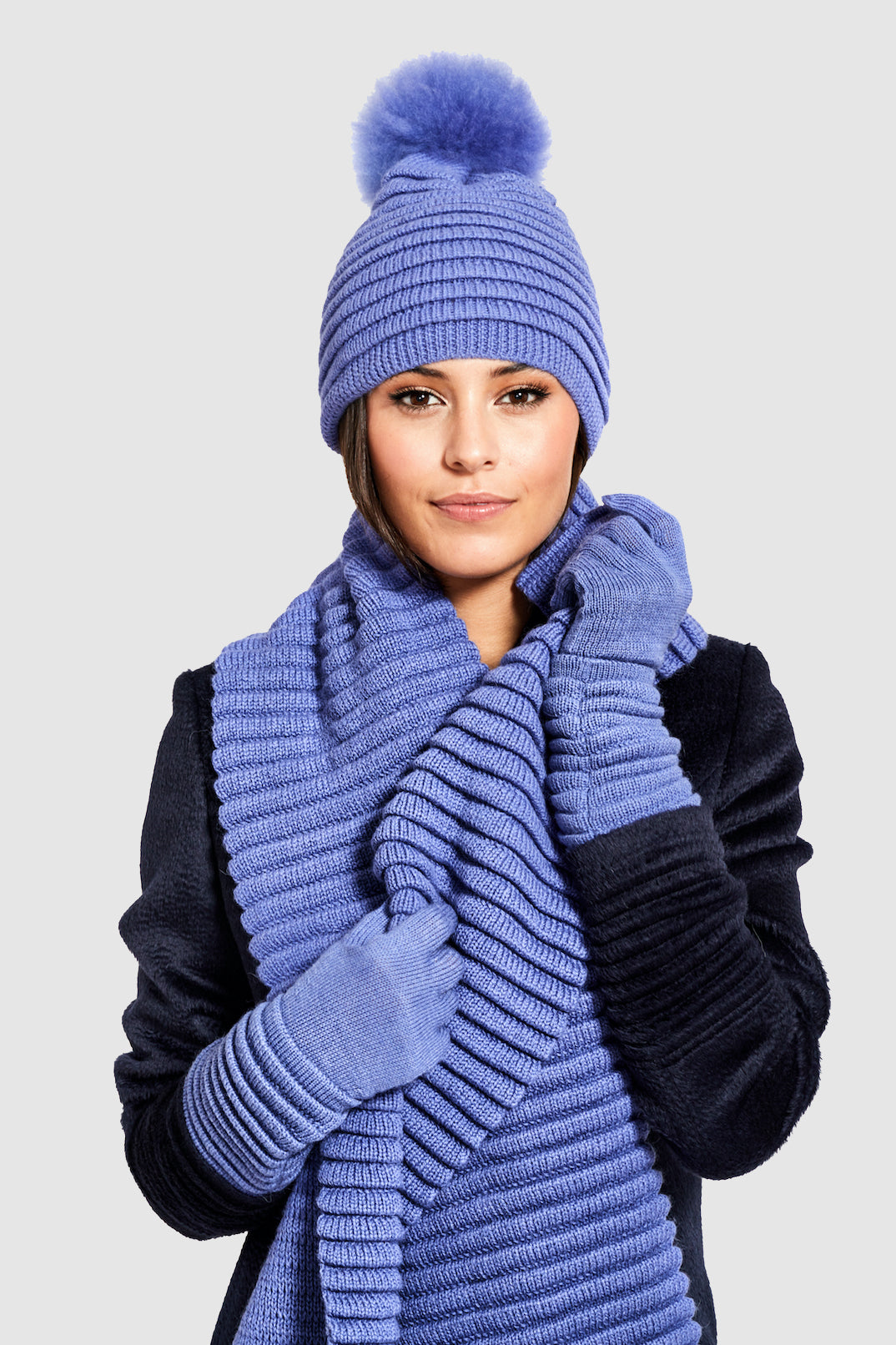 Adult Ribbed Scarf