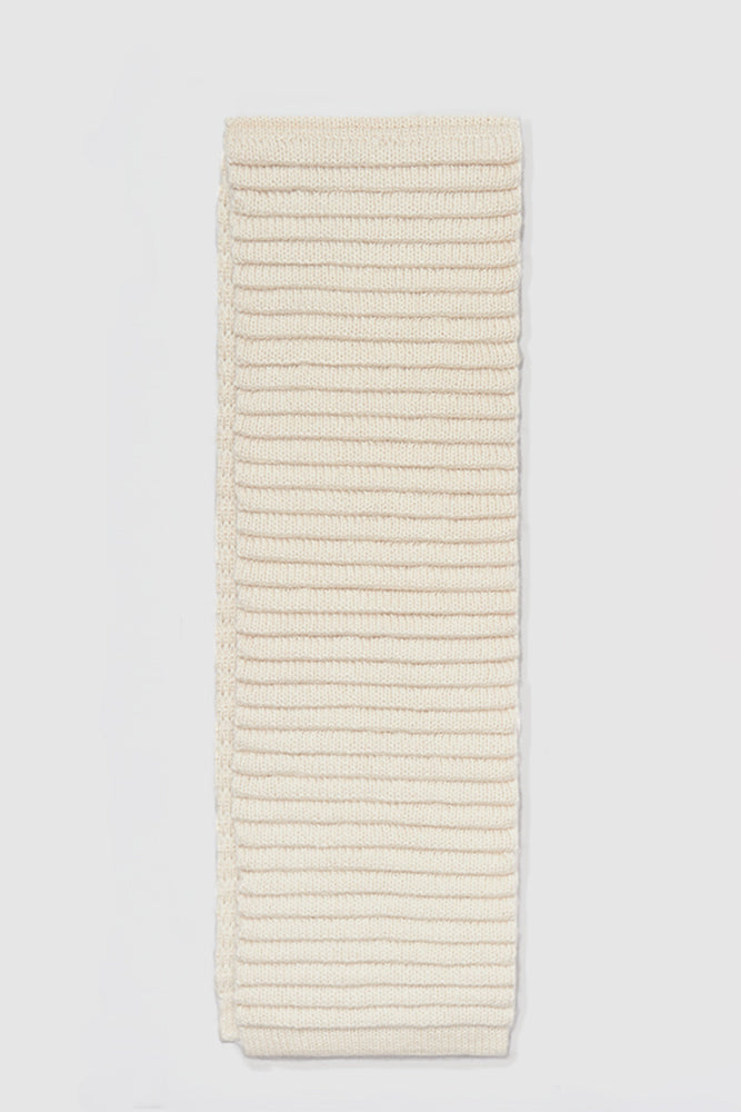 Kids Ribbed Scarf, Ivory