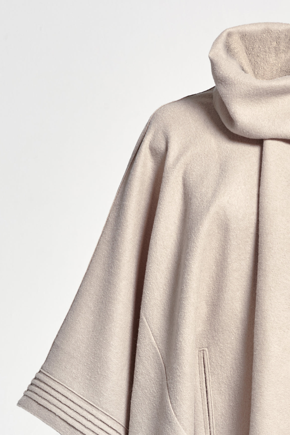 Poncho with Shawl Collar