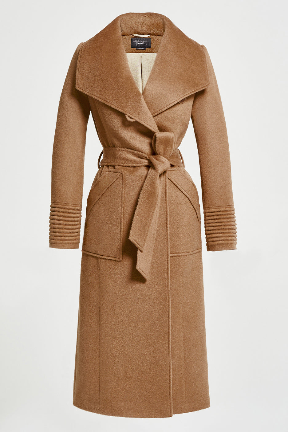Long Wide Collar Wrap Coat