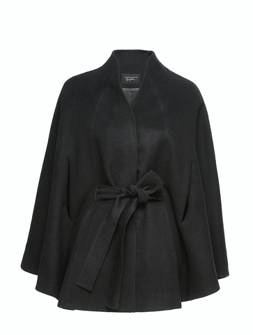 Stand Collar Cape, Black