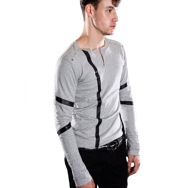HENLEY SWEATER Longsleeve | littleKINGDesigns