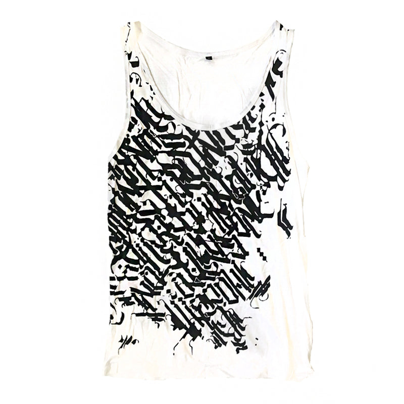 MEN'S CALLIGRAPHY SINGLET SINGLET | littleKINGDesigns