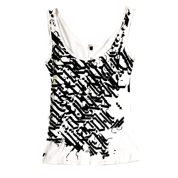 WOMEN'S CALLIGRAPHY TANKTOP Tank Top | littleKINGDesigns