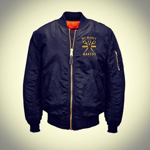 "My Money Makers ""Gold Money"" Flight Jacket"