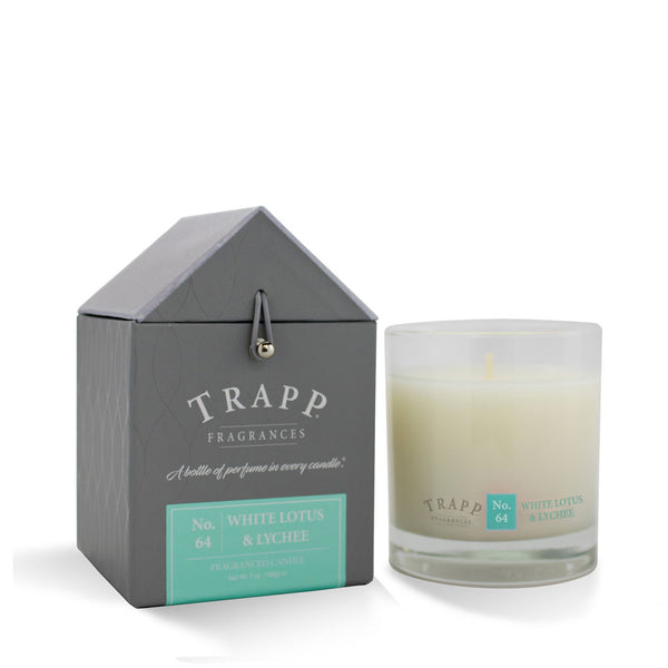 No. 64 White Lotus & Lychee Trapp Candle