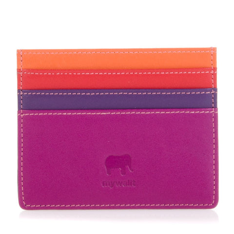 Double Sided Credit Card Holder - Sangria Multi 160-75