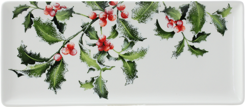 Gien -  Holly Oblong serving Tray