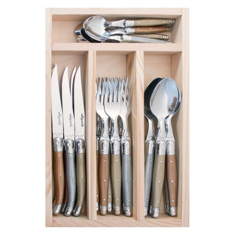 Laguiole - 24 piece cutlery set  - Metallic