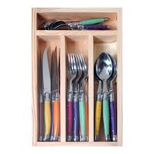 Laguiole - 24 Piece Cutlery Set - Mixed Colours