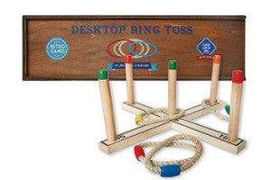 Desktop Ring Toss Retro Wood