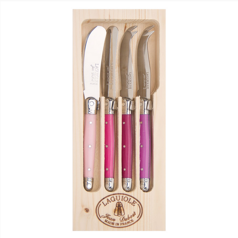 Laguiole - 4 Piece Mini Cheese and Pate - Rose