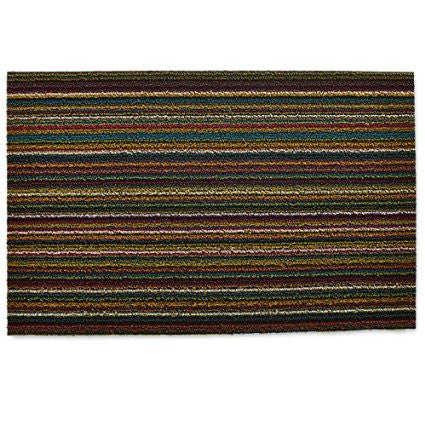 Chilewich Shag In Out Mat Skinny Stripes 46x71cm - BRIGHT MULTI - Bon Genre - 1